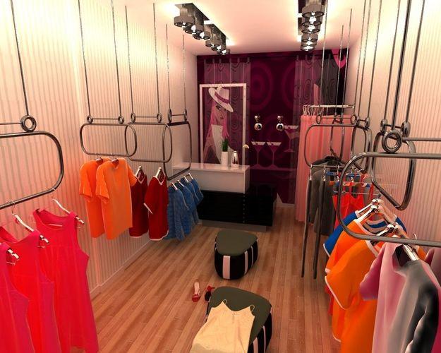 clothing store 3d model 3d model max 1