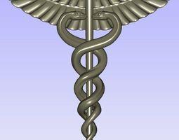 creature Caduceus 3D print model Medical symbol