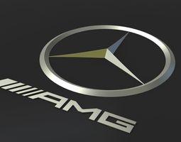 3d model mb emblem