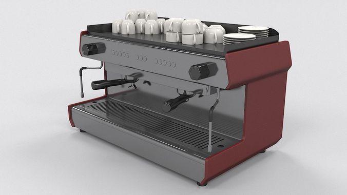 coffee machine 3d model max obj mtl 1