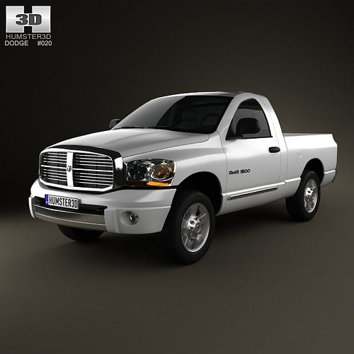 dodge ram 1500 regular cab laramie 120 inch box 2008 3d model max obj mtl 3ds fbx c4d lwo lw lws. Black Bedroom Furniture Sets. Home Design Ideas