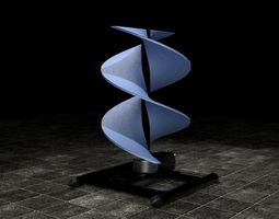 3D Vertical sci-fi wind turbine