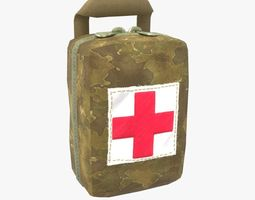 Military First Aid Kit 3D asset