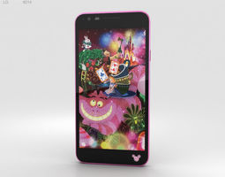LG Disney Mobile on Docomo DM-02H Pink phone 3D model