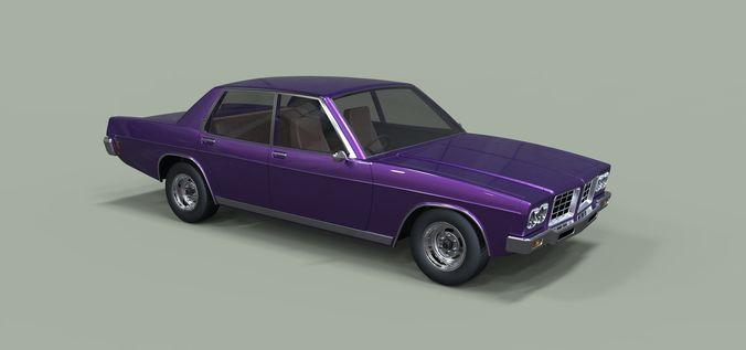 holden hq statesmen 1974 3d model obj mtl sldprt sldasm slddrw ige igs iges stp 1
