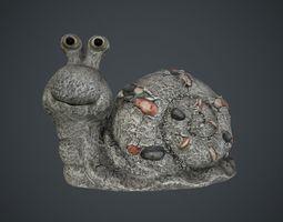 3D asset Snail Sculpture PBR Game Ready
