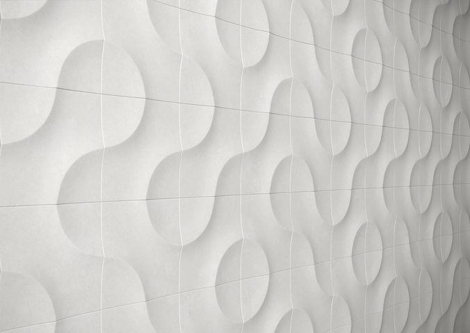 Gypsum Parametric Decorative Wall Panels Model