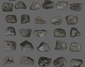 rocks sand 3D model low-poly