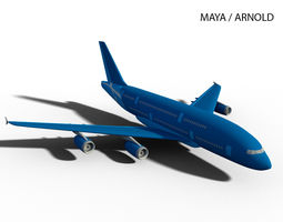 AIRBUS A380-800 3D model game-ready