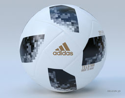 3D model Soccer Ball Adidas 2018 FIFA World Cup Russia