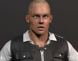 3D model Security Guard Agent Policeman