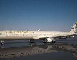 Etihad Boeing 777 - 9X 3D model