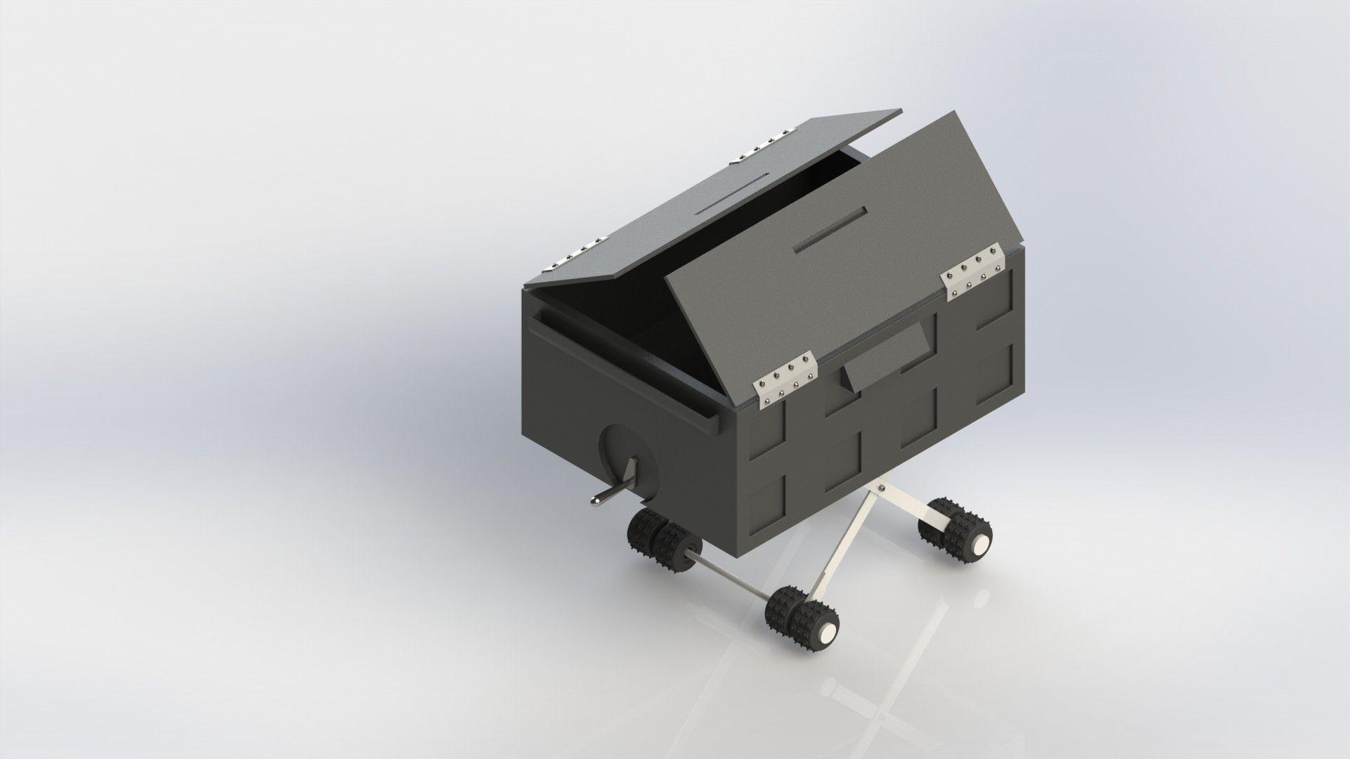 Collapsible Cart Free 3d Model Sldprt Sldasm Slddrw