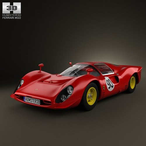 ferrari 330 p4 1967 3d model max obj 3ds fbx c4d lwo lw lws. Black Bedroom Furniture Sets. Home Design Ideas