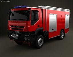 iveco trakker fire truck 2-axis 2012 3d model