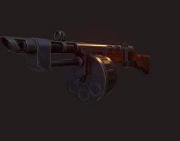 Terrible Shotgun Low poly 3D model