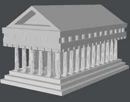 greek temple model 3d model lwo lw lws