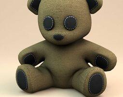 3D Little teddy bear