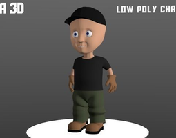 3D asset Low Poly Character