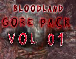 Bloodland Gore Pack Vol 01 3D asset