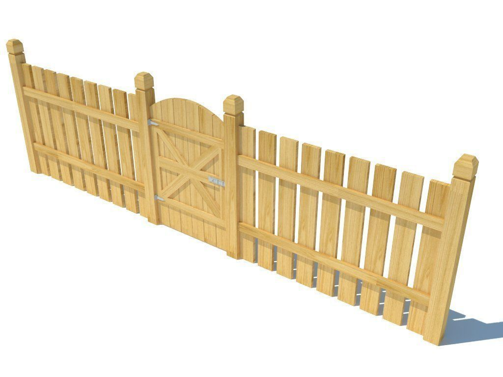 Low poly Fence | 3D model