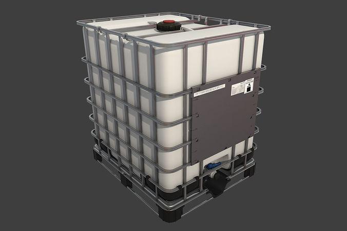 intermediate bulk container 3d model low-poly max obj mtl fbx 1