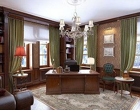 Classic Cabinet Scene Interior 3D model