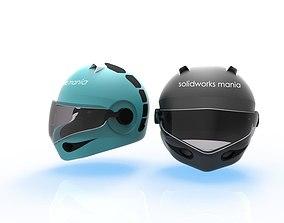 3D print model 3D model Helmet