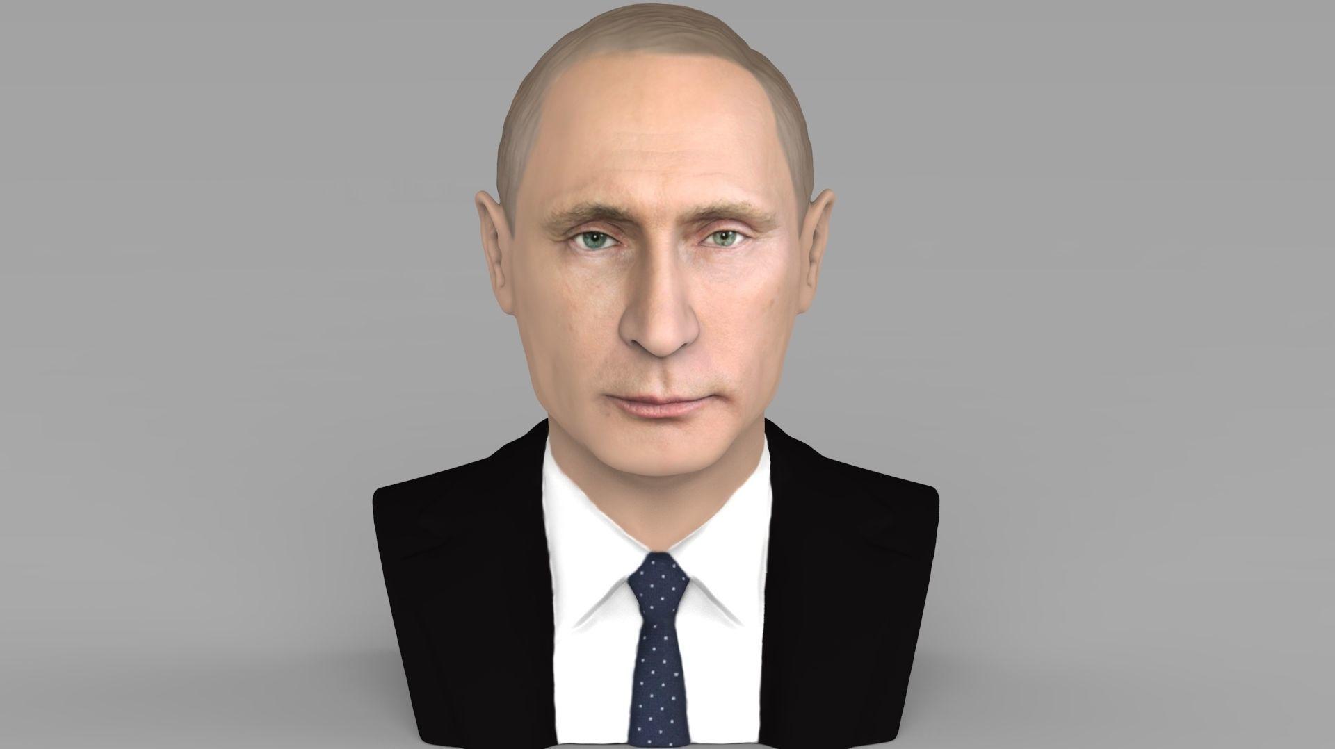 Vladimir Putin bust ready for full color 3D printing