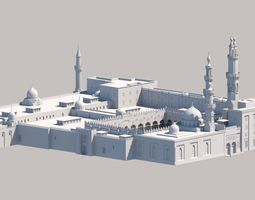 3D Al Azhar Al sharef mosque Cairo Egypt model