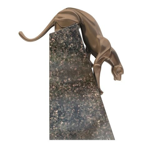 Sculpture coguar art deco style