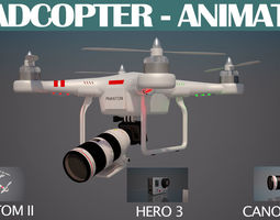 Quadcopter Animated 3D model