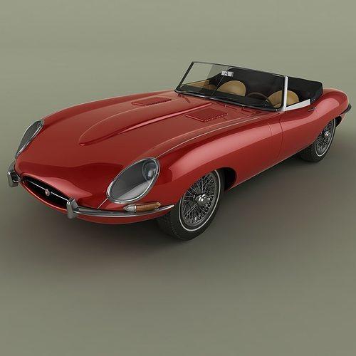 3d jaguar e type cabrio mk1 cgtrader. Black Bedroom Furniture Sets. Home Design Ideas