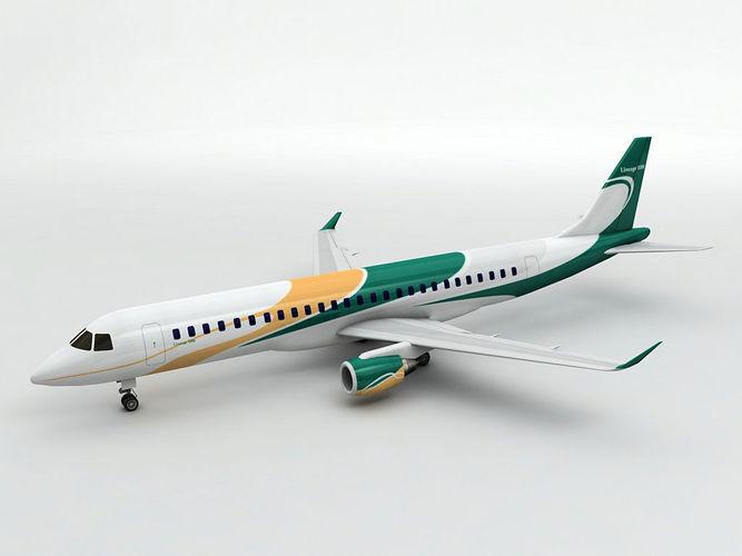 embraer lineage 1000 airliner  3d model low-poly max obj mtl 3ds dxf stl wrl wrz 1