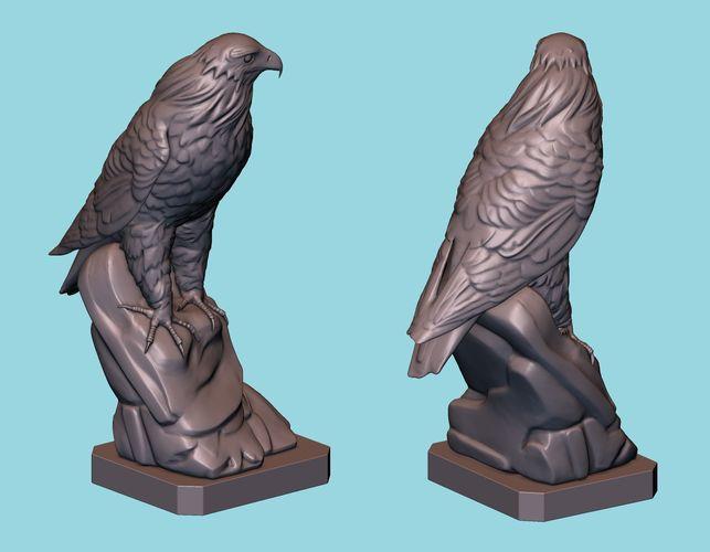 hawk statue 3d model obj mtl fbx stl blend 1