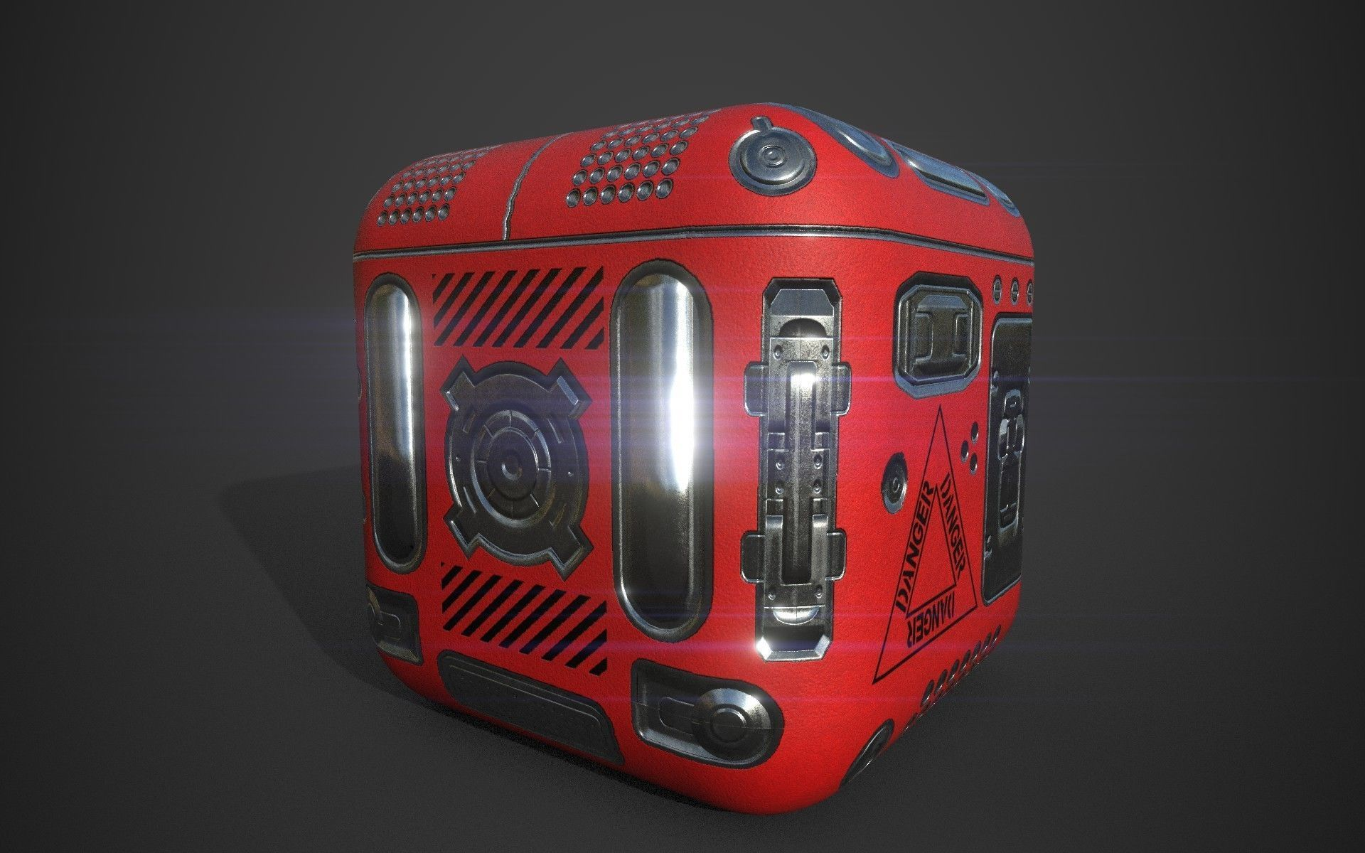 Sci-Fi Box Game Ready | 3D model