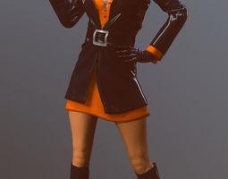 3D model Female 60s Spy