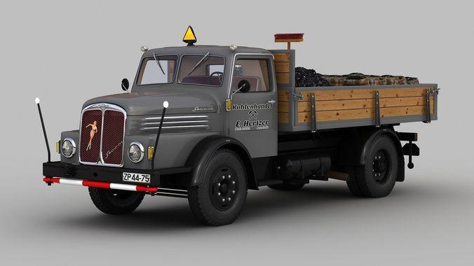 IFA S4000-1 Flatbed Truck Coal