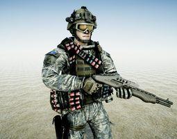 3D model Soldier Demolition