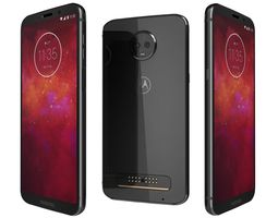 Motorola Moto Z3 Play Onyx Black 3D