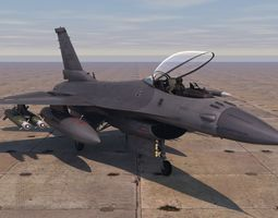 3D asset game-ready F-16 Fighting Falcon