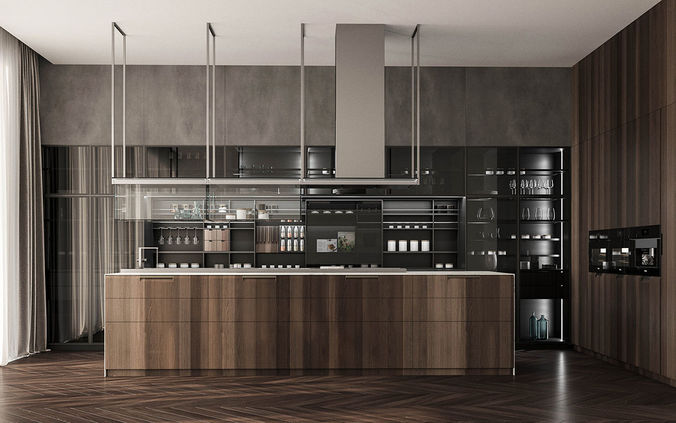 poliform kitchen 3d model - Poliform Kitchen