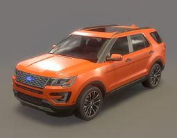 Explorer Game Ready 3D model