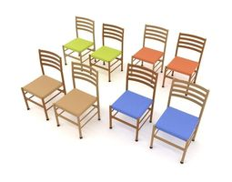 low-poly 3d asset chair 5