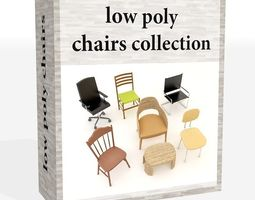 chairs collection 3D model