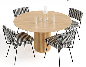 Elettra Chair and Palais Royal dining table 3D model