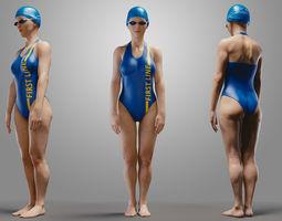 swimmingpoolgirlcasuala 3d model obj blend mtl