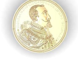 coin replica Poland Sigismund III 3D