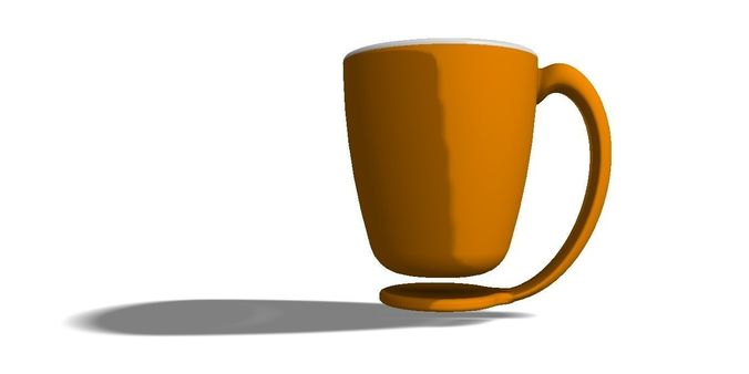 floating coffee mug 3d model obj mtl dwg ige igs iges iam ipt stp 1