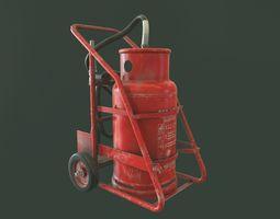 Trolley Fire Extinguisher 3D model